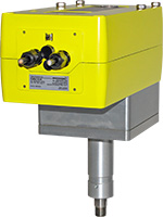 LIN – linear valve unit with adapted quarter-turn actuator ExMax size M with spring return for use in zone 1, 2, 21, 22