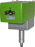 LIN – linear valve unit with adapted quarter-turn actuator InMax size M with spring return for use in safe area